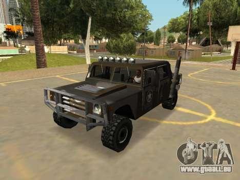 Mammouth Patriot Militaire Avec Les Badges & Ext pour GTA San Andreas