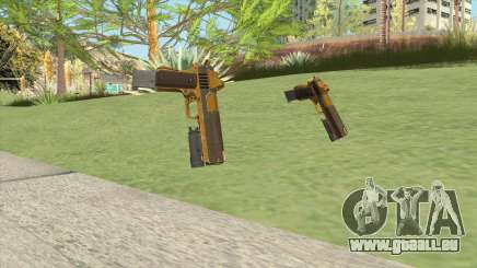 Heavy Pistol GTA V (Gold) Flashlight V2 pour GTA San Andreas