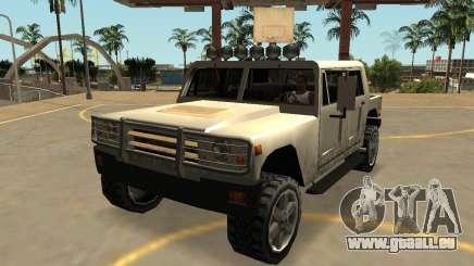 Mammoth Patriot Zivil mit Abzeichen & extras für GTA San Andreas