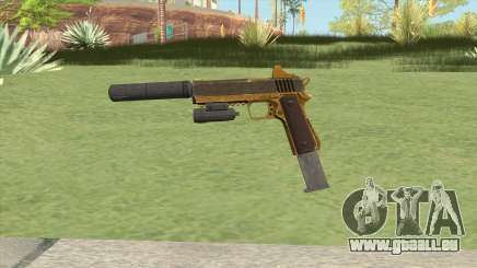 Heavy Pistol GTA V (Gold) Full Attachments für GTA San Andreas