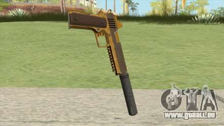 Heavy Pistol GTA V (Gold) Suppressor V1 für GTA San Andreas