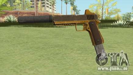 Heavy Pistol GTA V (Gold) Suppressor V2 pour GTA San Andreas