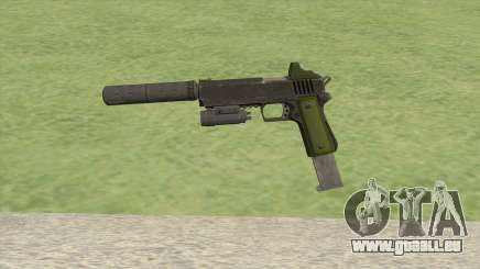 Heavy Pistol GTA V (Green) Full Attachments pour GTA San Andreas