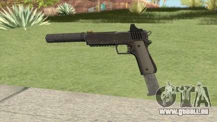 Heavy Pistol GTA V (NG Black) Suppressor V2 pour GTA San Andreas