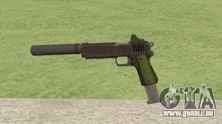 Heavy Pistol GTA V (Green) Suppressor V2 pour GTA San Andreas