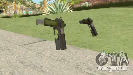 Heavy Pistol GTA V (Green) Flashlight V2 pour GTA San Andreas