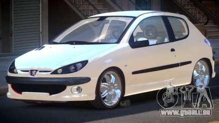Peugeot 206 1.6i pour GTA 4