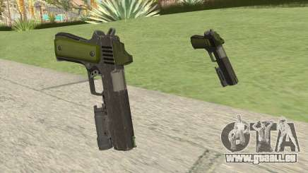 Heavy Pistol GTA V (Green) Flashlight V1 pour GTA San Andreas