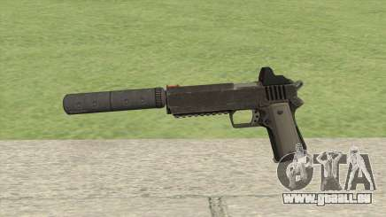 Heavy Pistol GTA V (NG Black) Suppressor V1 pour GTA San Andreas