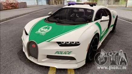 Bugatti Chiron 2017 Dubai Police pour GTA San Andreas