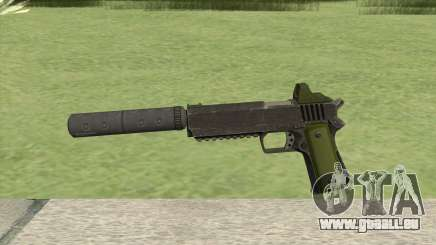 Heavy Pistol GTA V (Green) Suppressor V1 pour GTA San Andreas