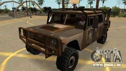 Mammouth Patriot Militaire Avec Les Badges & Extras pour GTA San Andreas