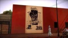 Wandbild von Mandela auf die Armut