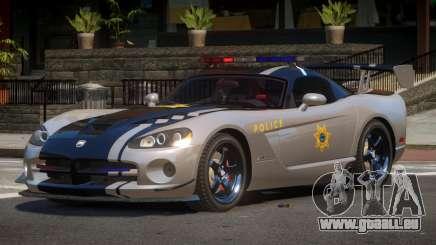 Dodge Viper RT Police für GTA 4