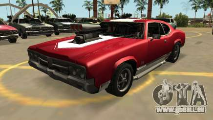 Declasse Sabre GT-Turbo (VehFuncs-Badges-les Extras) pour GTA San Andreas