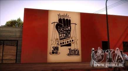 Wandbild von Mandela auf die Armut für GTA San Andreas
