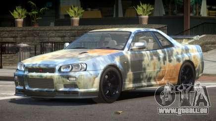 Nissan Skyline R34 E-Style PJ4 pour GTA 4