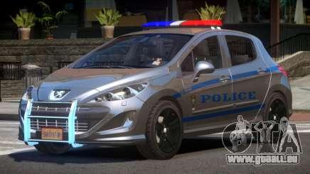 Peugeot 308 Police pour GTA 4