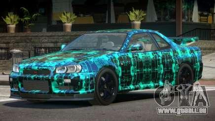 Nissan Skyline R34 E-Style PJ2 pour GTA 4