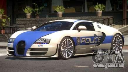 Bugatti Veryon Police V1.2 pour GTA 4