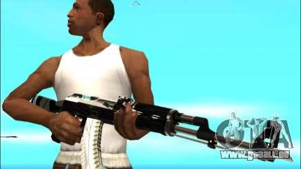 Pak Waffen Weiß Gold für GTA San Andreas