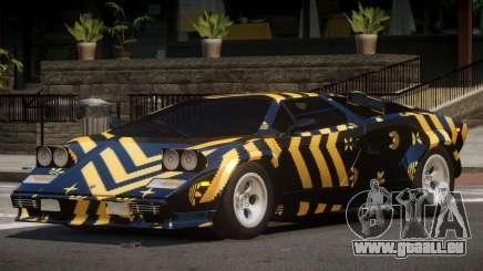 1985 Lamborghini Countach LP500 QV PJ3 pour GTA 4