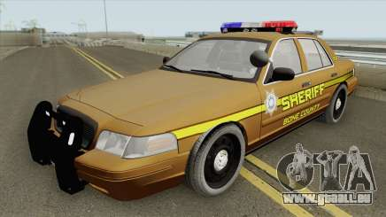 Ford Crown Victoria 2011 (Bone County Sheriff) pour GTA San Andreas