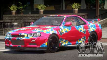 Nissan Skyline R34 E-Style PJ7 pour GTA 4