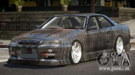 Nissan Skyline R34 SRS PJ5 für GTA 4