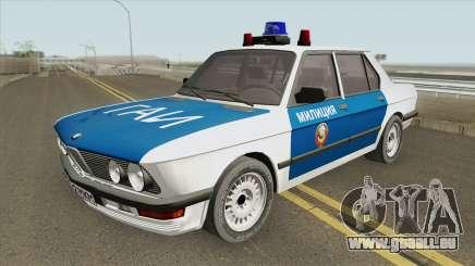 BMW 525E (E28) Police 1987 für GTA San Andreas