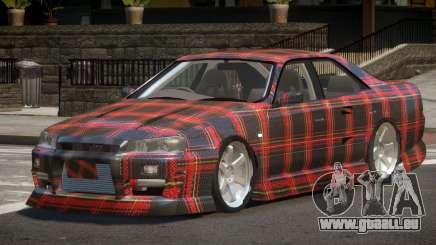 Nissan Skyline R34 SRS PJ4 pour GTA 4