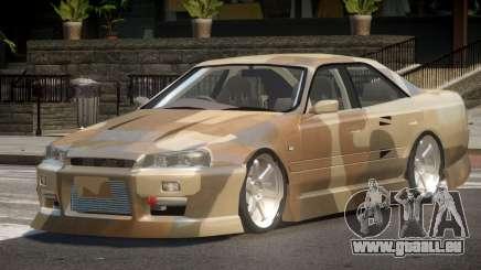 Nissan Skyline R34 SRS PJ1 pour GTA 4