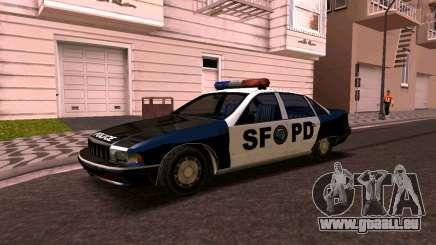 Chevrolet Caprice 1993 SFPD SA-Stil für GTA San Andreas