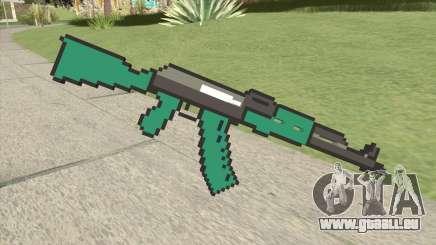 AK47 Pixels (Minecraft) für GTA San Andreas
