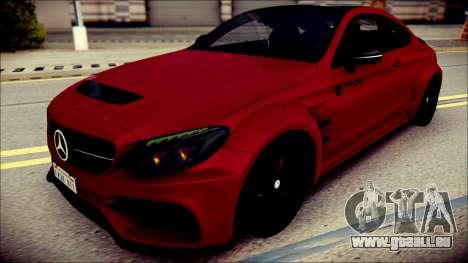 Mercedes-Benz C63 Coupe AMG Prior Design pour GTA San Andreas