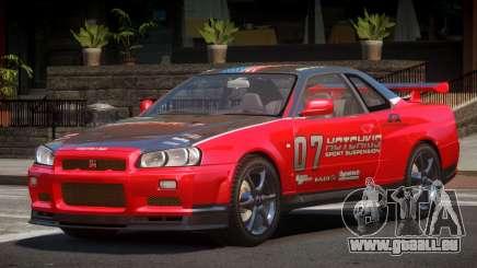 Nissan Skyline R34 GT-Style PJ4 für GTA 4