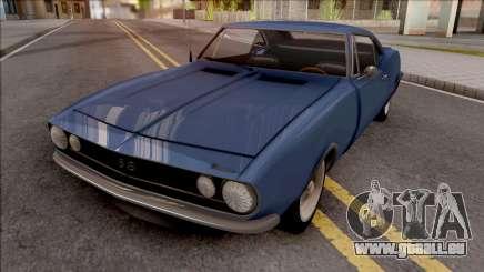 Chevrolet Camaro 1967 Blue für GTA San Andreas