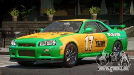 Nissan Skyline R34 GT-Style PJ3 für GTA 4