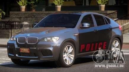 BMW X6M GL Police pour GTA 4