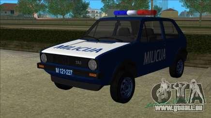VW Golf Mk1 Yugoslav Yugoslav Milicija (police) pour GTA Vice City