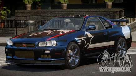 Nissan Skyline R34 GT-Style PJ2 für GTA 4