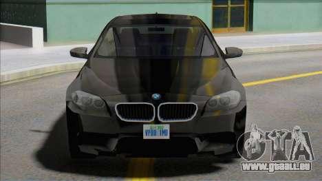 2012 BMW M5 (F10) SA Style pour GTA San Andreas