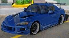 HONDA S2000 Blue with Spoiler