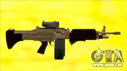 GTA V Combat MG Army All Attachments Big Mag pour GTA San Andreas