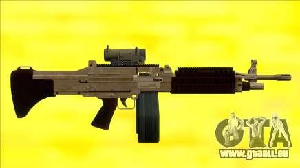 GTA V Combat MG Army Scope Big Mag pour GTA San Andreas