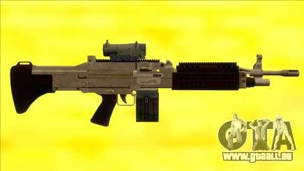 GTA V Combat MG Army Scope Small Mag pour GTA San Andreas