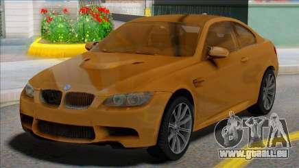 BMW M3 E92 Yellow Coupe für GTA San Andreas