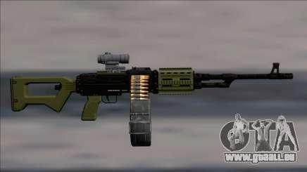 GTA V Shrewsbury MG Green Scope (Deafault clip) für GTA San Andreas