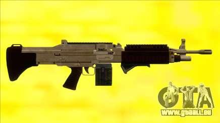 GTA V Combat MG Army Grip Small Mag pour GTA San Andreas