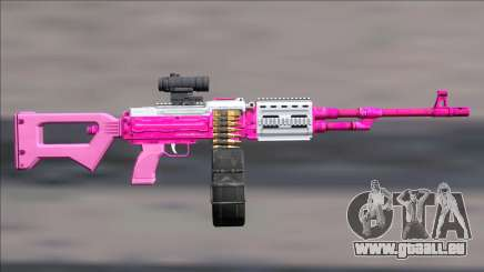 GTA V Shrewsbury MG Pink Scope (Deafault clip) pour GTA San Andreas